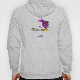 Haiti in watercolor Hoody