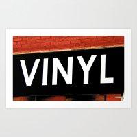 vinyl Art Prints featuring Vinyl by Biff Rendar