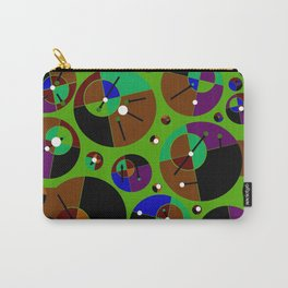 Bubble green black Carry-All Pouch