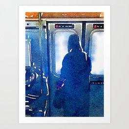 Contemplating the Commute Art Print