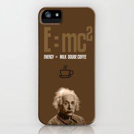 e=mc2, energy, milk, coffee iPhone Case