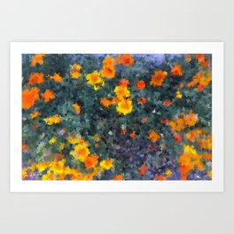 Ocean poppies Art Print