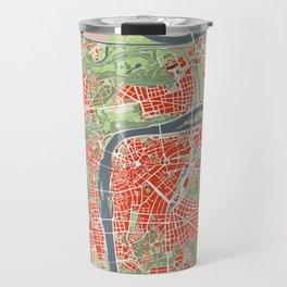 Prague map classic Travel Mug