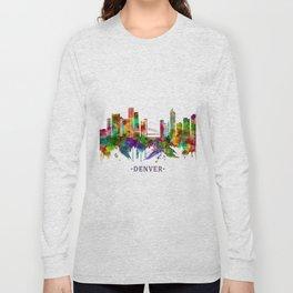 Denver Colorado Skyline Long Sleeve T-shirt