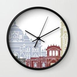 Ahmedabad skyline poster Wall Clock
