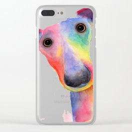 ' THe WaCKY WHiPPeTS ' WHiPPeT, GReYHouND PRiNTs, ART Clear iPhone Case