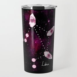 Libra Constellation in Pink Tourmaline - Star signs and birth stones Travel Mug
