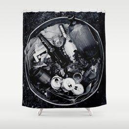 Garbage. Shower Curtain