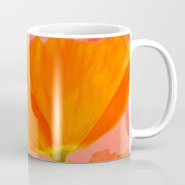 Beautiful Poppies Coral Color Background #decor #society6 #buyart Coffee Mug