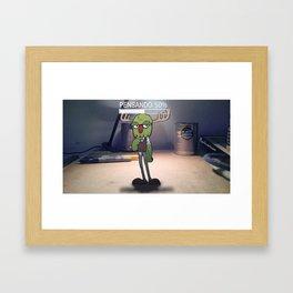 "Monstruosidades ""pensando"" Framed Art Print"