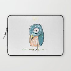 Stressed out Little King Bird  Laptop Sleeve