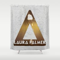bastille Shower Curtains featuring Bastille #1 Laura Palmer by Thafrayer