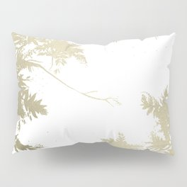 Night's Sky White Gold Pillow Sham