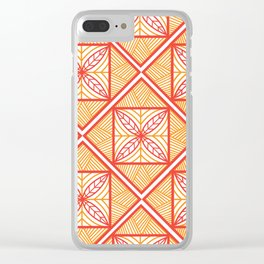 Orange UrbaNesian Siapo Clear iPhone Case