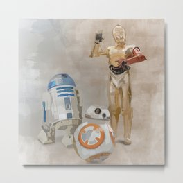 The Droids You're Looking For Metal Print