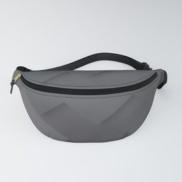 Grey/gray pattern, layered like shingles, tiles or those paint swatches you just cannot choose from! Fanny Pack