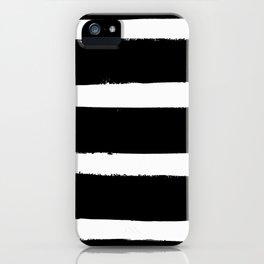 Black & White Paint Stripes by Friztin iPhone Case
