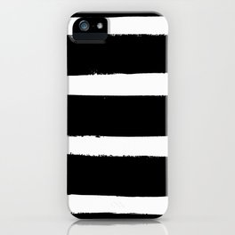 Black & White Paint Stripes by Friztin iPhone Case
