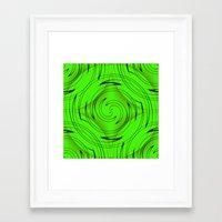 lime green Framed Art Prints featuring Lime Green by Sartoris ART