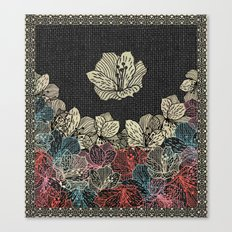 Burlap & Flowers 4 Canvas Print