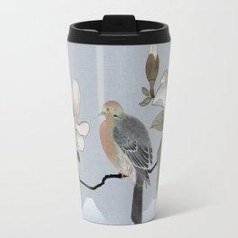 Mourning Dove And Magnolia Travel Mug