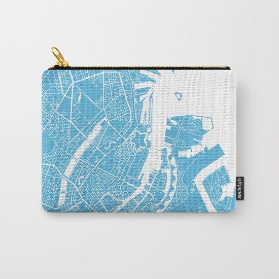 Copenhagen map blue Carry-All Pouch