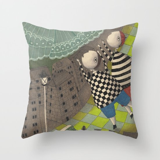 Night flight (1) Throw Pillow