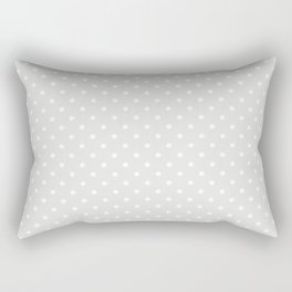 Dots (White/Platinum) Rectangular Pillow