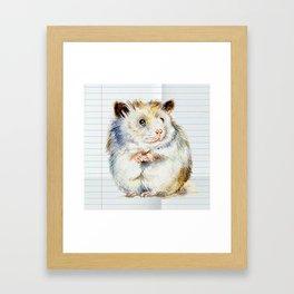 The small hamster Framed Art Print