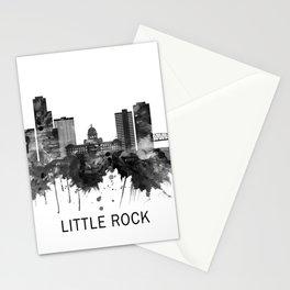 Little Rock Arkansas Skyline BW Stationery Cards