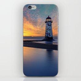 Sunset at Talacre Lighthouse iPhone Skin