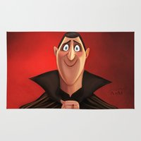 dracula Area & Throw Rugs featuring Dracula by This Is Niniel Illustrator