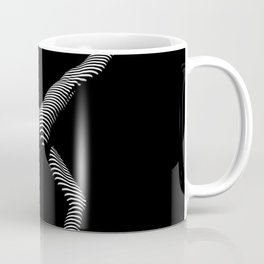 9466s-DJA BW Zebra Striped Nude Woman Yoga Pose Coffee Mug