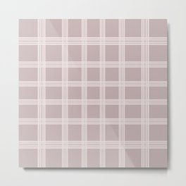 Grid on Purple Background Metal Print