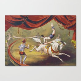 Banner Act - Vintage Circus Art, 1873 Canvas Print