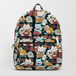 Super Lucky Pattern in Black Backpack