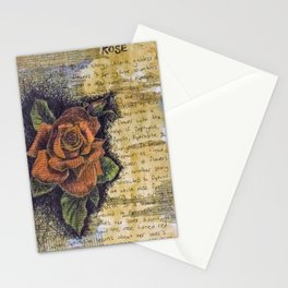 Rose collage Stationery Cards