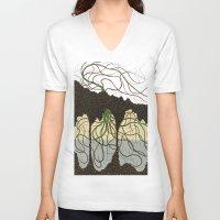hawaiian V-neck T-shirts featuring first hawaiian by thefleafarm (Amy Wright)