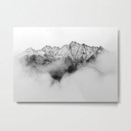Peaks on the Mist Metal Print