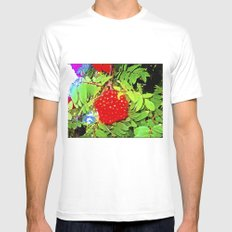 Divine Nature. White MEDIUM Mens Fitted Tee
