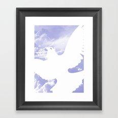 Peace all over Framed Art Print