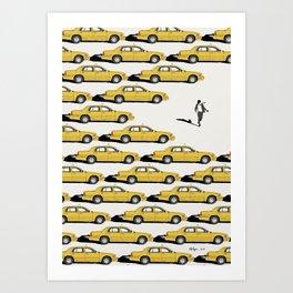 NY Yellow Cab Art Print
