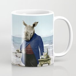 Mr. Rhino's Day at the Beach Coffee Mug