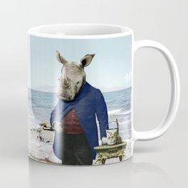 Mr. Rhino's Day at the Beach Coffee Mug