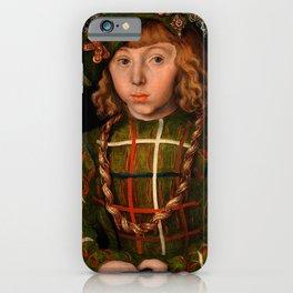 """Lucas Cranach the Elder """"Portrait of Johann Friedrich the Magnanimous"""" iPhone Case"""