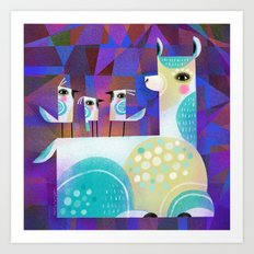 ALPACA PERCH Art Print