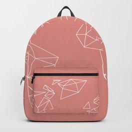 geo world blush - geometrical world map Backpack