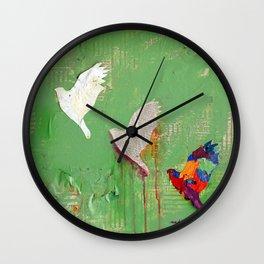 Renewal by Nadia J Art Wall Clock