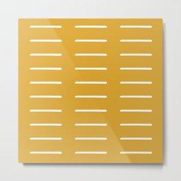 organic / yellow Metal Print