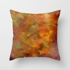 Textures - Copper and Blue Throw Pillow